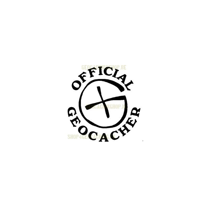 Official Geocacher Sticker 7,5 cm wit
