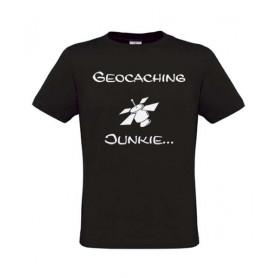 Geocaching Junkie, T-Shirt (zwart)