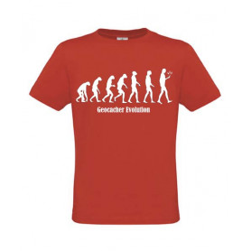 Evolution, T-Shirt (rot)