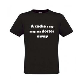 A cache a day, T-Shirt (schwarz)