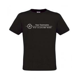 Logo + Koordinaten , T-Shirt (black)