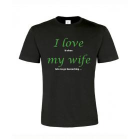 I love my wife, T-Shirt (zwart/groen)