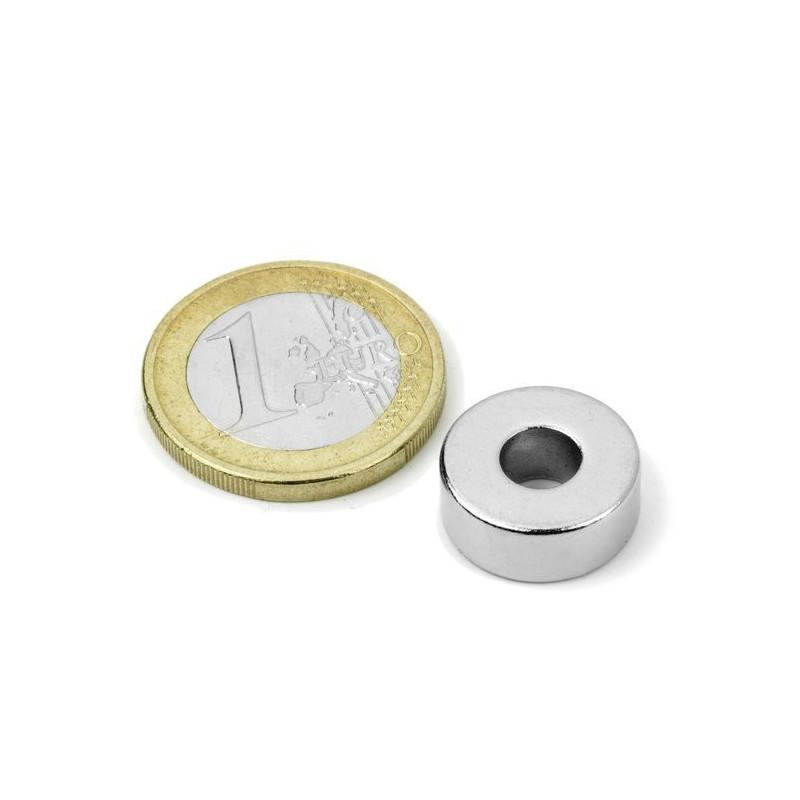 1 Stück 15 mm Runde x 5 mm mit 6 mm Loch Neodym Magnete