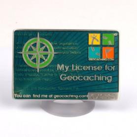 My Geocaching License - Blue