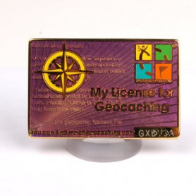 My Geocaching License - Paars