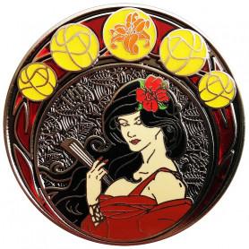 Art Nouveau Zomer Antiek Nickel