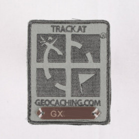Trackable Aufnäher Lichtgrau