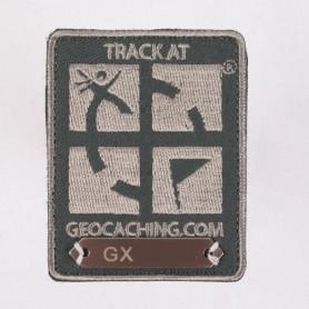 Trackable Aufnäher Dunkelgrau