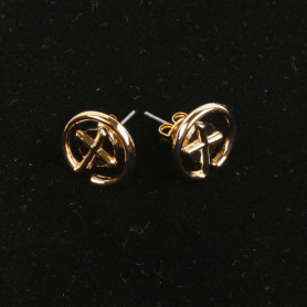 Geocaching - Earrings - klein - goud