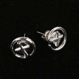 Geocaching - Earrings - small - silver