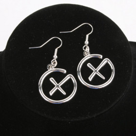Geocaching - Earrings - pendant - silver