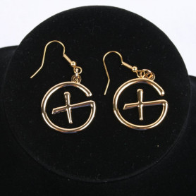 Geocaching - Oorbellen - hangend - goud