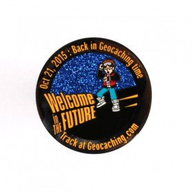 It's Geocaching Time Geocoin Black Nickel RE