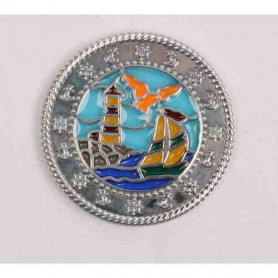 Boat-Lighthouse Suncatcher Polished Silver XLE