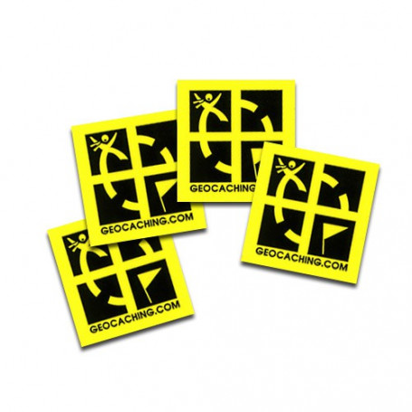 Mini sticker 4 pack gelb 2 x 2 cm