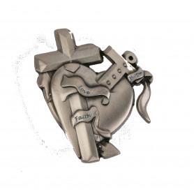 Love-Faith-Hope Geocoin Antique Silver RE