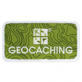 Geocaching Logo Badge - Klittenband