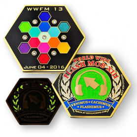 WWFM Flash Mob XII event geocoin