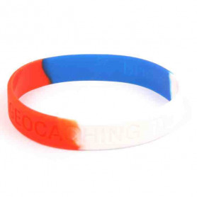 Wristband - I Love Geocaching Red-white-blue