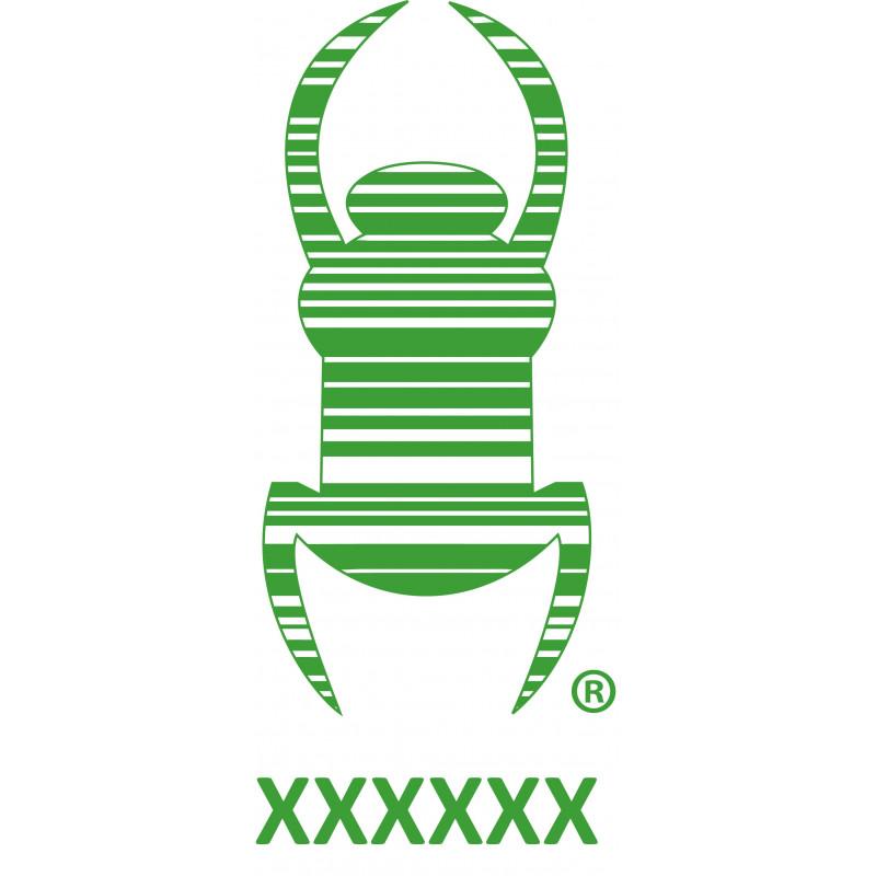 Travel bug - Sticker - 8,5 cm - Green, decal