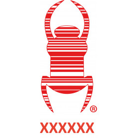 Travel bug - Sticker - 8,5 cm - Red, decal