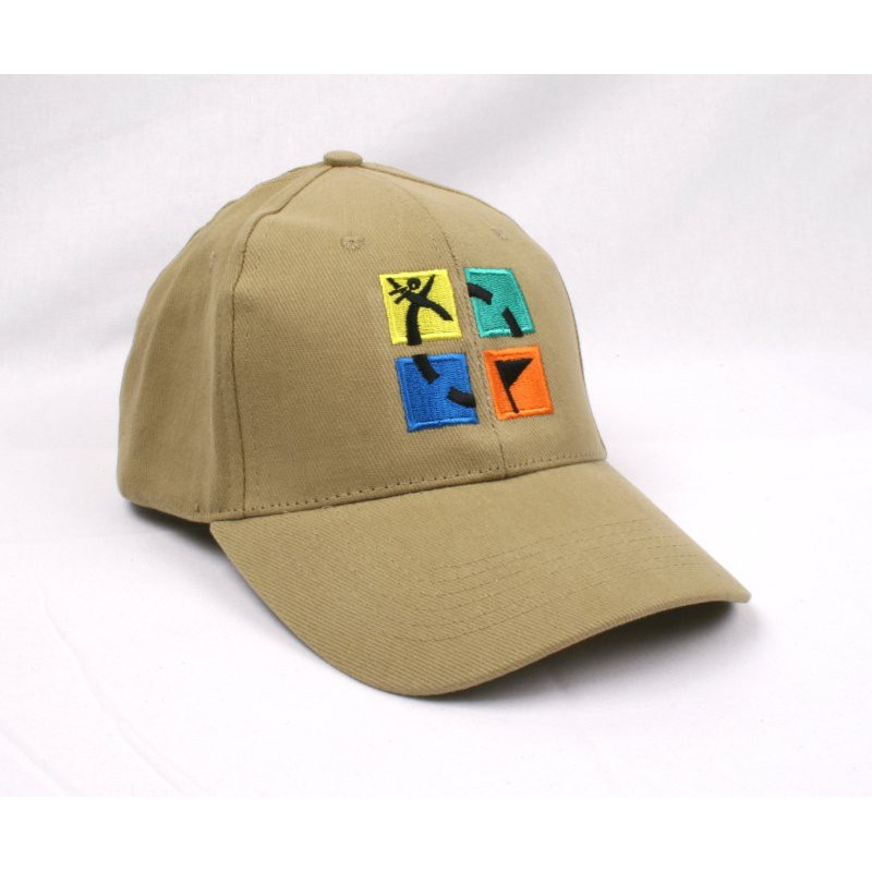Kappe, khaki mit Geocaching Logo