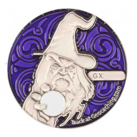 The Magician Geocoin - AS Paars - RE