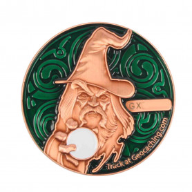 The Magician Geocoin - AC Green - XLE