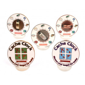 Cache Clock Geocoin - set van 5