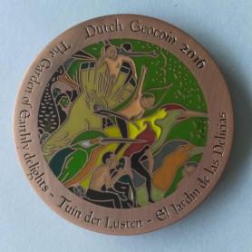 Dutch Geocoin 2016 - Antiek copper - LE - Jeroen Bosch