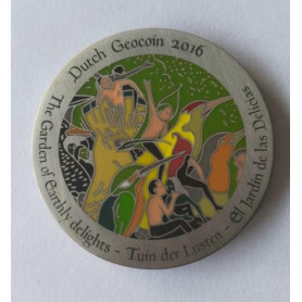 Dutch Geocoin 2016 - Antique silver - XLE - Jeroen Bosch