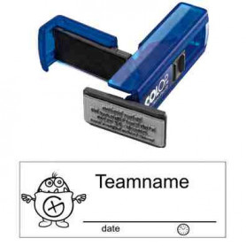 Log stempel - Kleine Hint - 14 x 38 mm