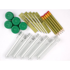 PETling containerset van 5 met groene dop