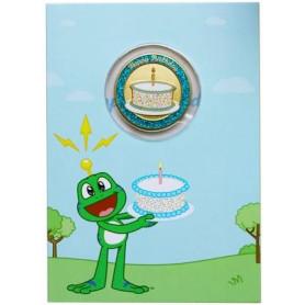 Geburtstagskarte mit Geocoin