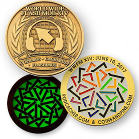 WWFM Flash Mob XIV event geocoin