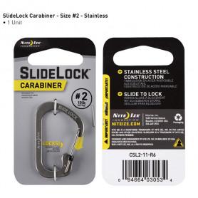 SlideLock Carabiner maat 2