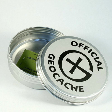 Magnetische Geocaching Container rond - L (85 x 26,5 mm)