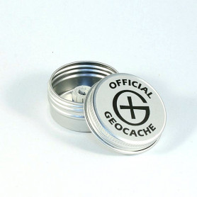 Magnetische Geocaching Container rond - XS (41 x 20 mm)