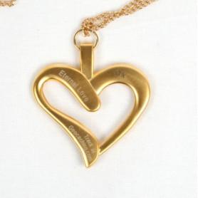Eternal Love Geocoin - Satin gold - Zwart - A gift of love