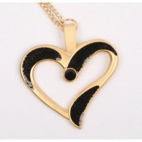 Eternal Love Geocoin - Satin gold - Black - a Gift of Love