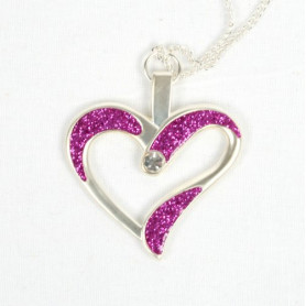 Eternal Love Geocoin - A Gift of Love edition - Satin silver/pink