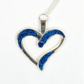 Eternal Love Geocoin - A Gift of Love edition - zilver/blauw