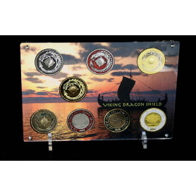 Geocoin Tableau: Viking Dragon Shield