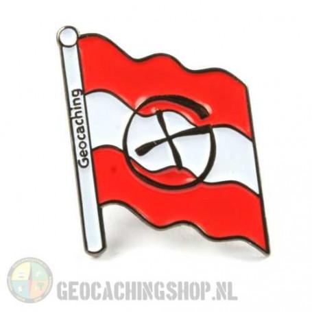 Pin flag Österreich - black nickel
