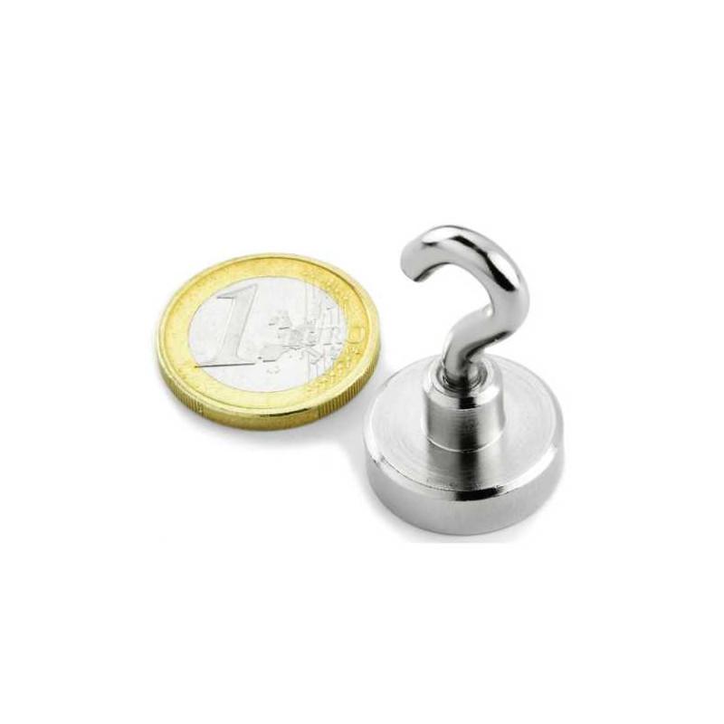 1 Stück 20 mm Neodym Haken Magnet