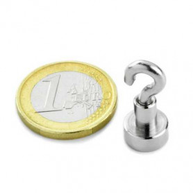 1 Stück 10 mm Neodym Haken Magnet