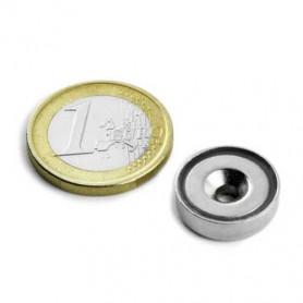 1 pc 16 mm Round Countersunk Neodym Magnet