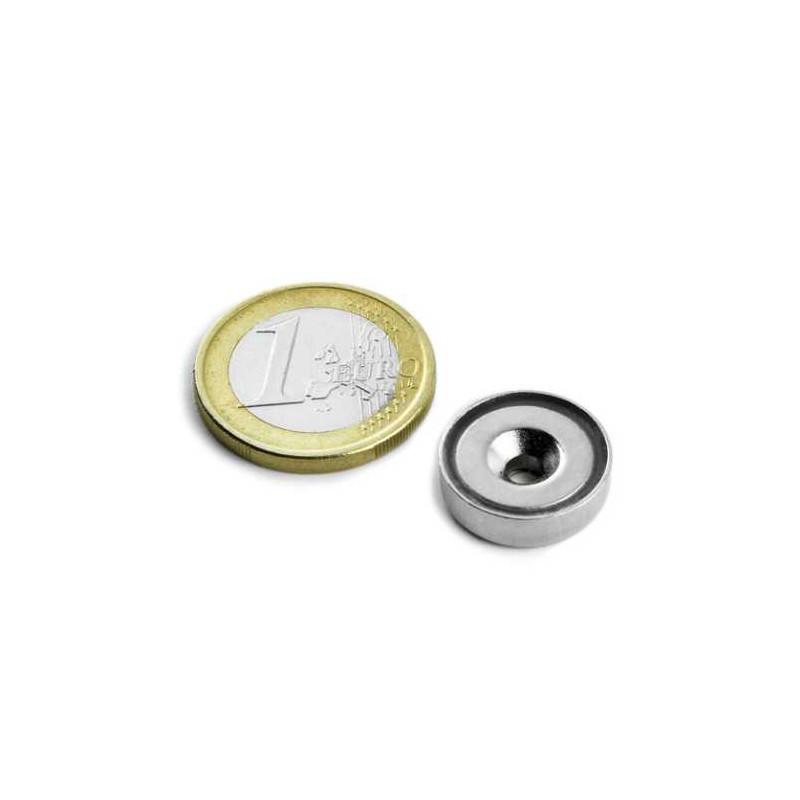 1st 16 mm Rond met verzonken gat Neodym Magneet