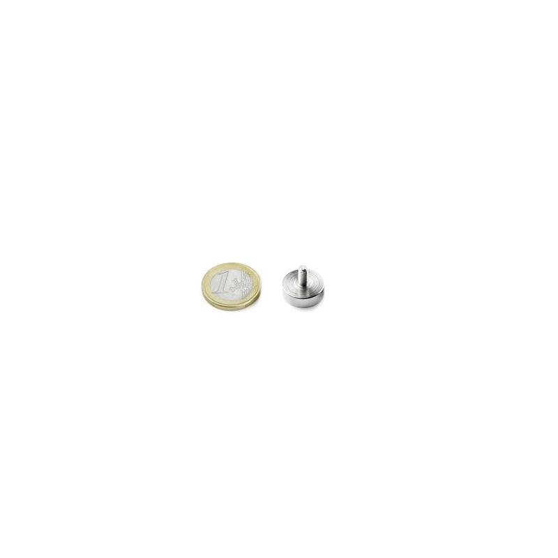 1pcs 16 mm Rund mit Gewindezapfen Neodym Magnet