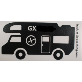 Trackable Camper sticker